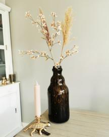 Tijger vaas met droogbloemen