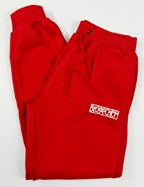 Joggingbroek rood ByGoochem logo