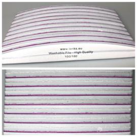 Halve Maan Breed 100/180 Wit - 10st uitwasbaar + extra kwaliteit