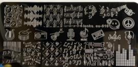 Diverse Stempelplaten - 1 tem 10