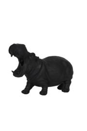 Tafellamp HIPPO groot mat zwart