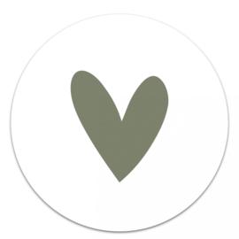 Muurcirkel Hart Groen