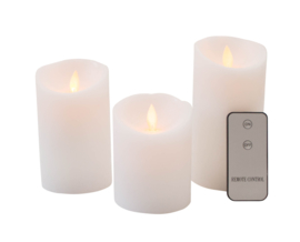 Set van 3 kaarsen op batterijen