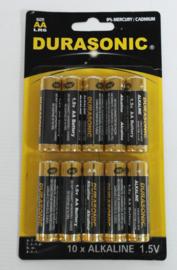 Set van 10 AA batterijen