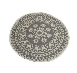 Buitentapijt rond grijs - 150 cm