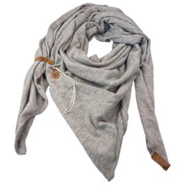 Sjaal Fien grijs