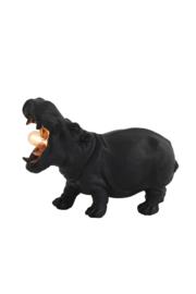Tafellamp HIPPO klein mat zwart