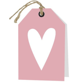 Blanco kaart met hart
