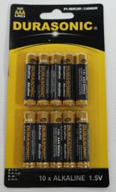 Set van 10 AAA batterijen