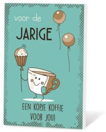 voor de JARIGE een kopje koffie voor jou