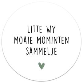 Muurcirkel Litte Wy Moaie Mominten Sammelje
