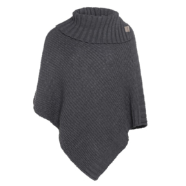 Nicky Knitted Poncho Antraciet