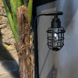 Solar filament looplamp op steker