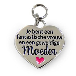 Hart / Charms for you - Moeder
