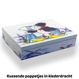 Theekist oud Hollands, 12 vaks  (nu met 60 gratis theezakjes!)