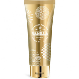 Showergel in goudkleurige tube/  Vanille