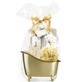 Gouden giftset in badkuip, 5-delig / vanille