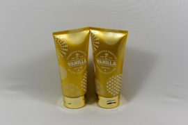Bodylotion & Showergel in goudkleurige tube/  Vanille