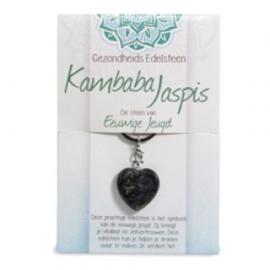 Gezondheids Edelsteen / Sleutelhanger - Kambaba Jaspis, De Steen van de Eeuwige Jeugd -