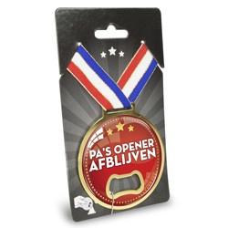 Medaille Opener - Pa's opener, afblijven