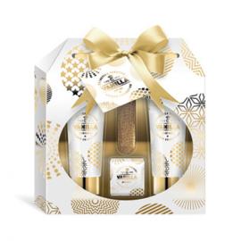 Gouden giftset in vensterdoosje, 4-delig / vanille