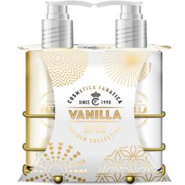 Gouden giftset in metalen mandje, 3-delig / vanille