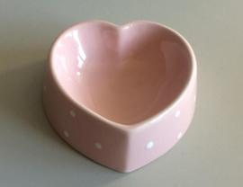 Happy Pet Voerbak polka dot hart roze