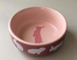 Trixie voerbak konijn roze