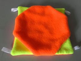 Dubbeldekker S Neon oranje met neon geel
