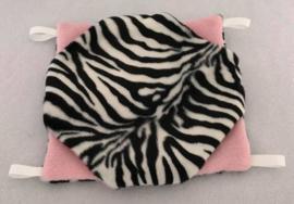 Dubbeldekker S Zebra klein zwart wit