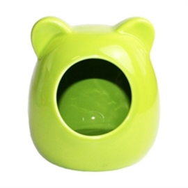 Happy Pet Knaagdierhuisje hamster keramiek groen
