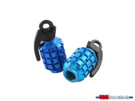 Valve caps set grenate blue