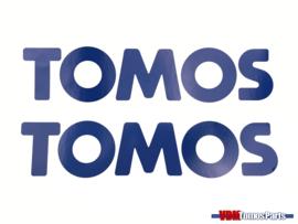 Sticker set Tomos blue/white 200x50mm
