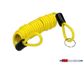 Reminder cable Brake disc Lock (Yellow)