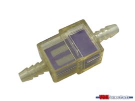 Benzine filter klein paars transparant