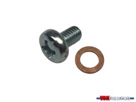 Oil inspection bolt/Copper ring Tomos A3/A35/Qaudro/Etc