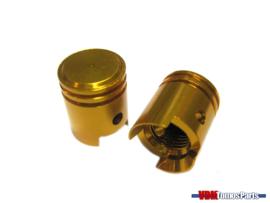 Valve caps set piston gold