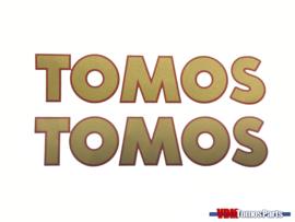 Sticker set Tomos gold/red 150x31mm