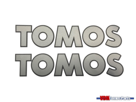 Sticker set Tomos grijs/zwart 150x31mm