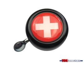 Bell Switzerland black dome sticker