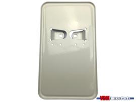 License plate holder vertical white (Netherlands)