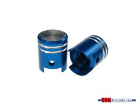 Valve caps set piston blue