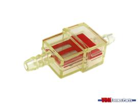 Benzine filter klein rood transparant