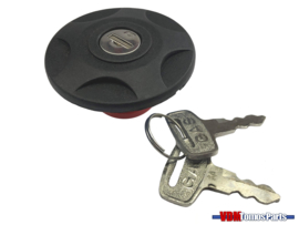 Tank cap with lock black Tomos A3/A35/Etc