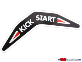 Sticker kickstart zwart/wit/rood Tomos A3/S25
