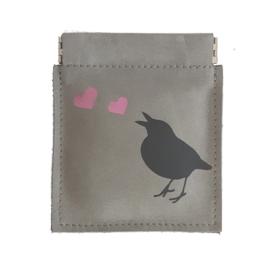KNIJPPORTEMONNEE LOVEBIRD TAUPE