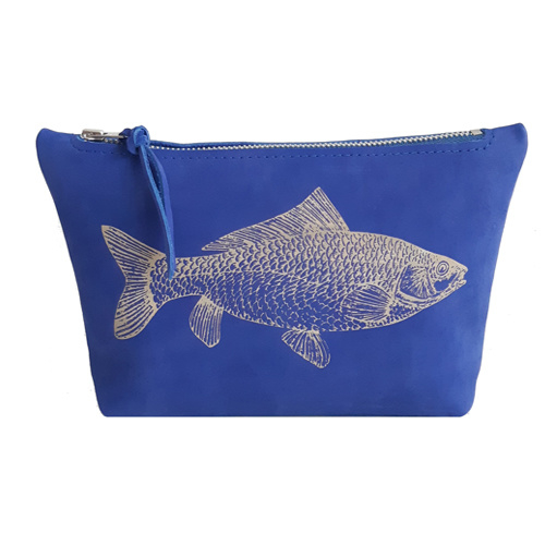MAKE-UP TASJE FISH BLUE