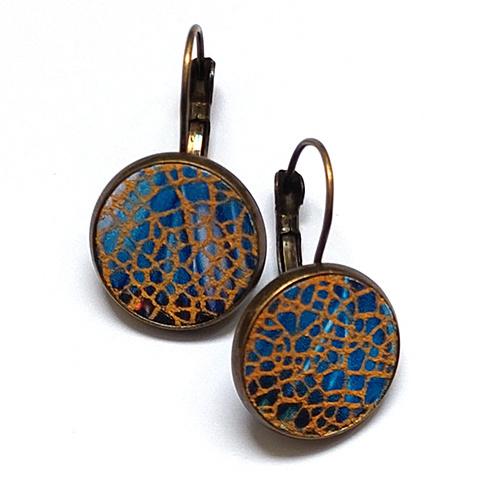 Oorbel Brons Pacific Blue