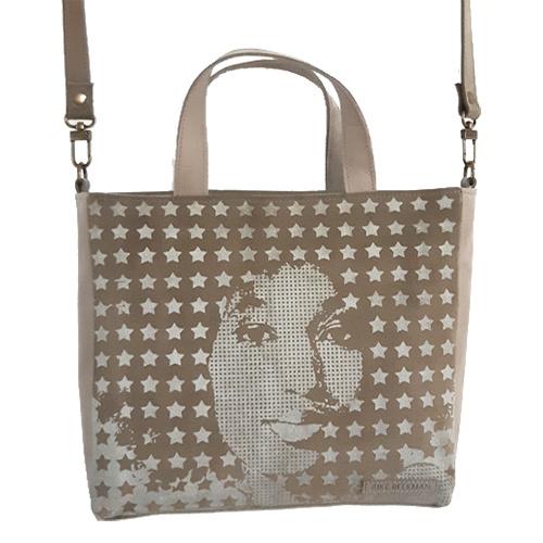 Shopper zeefdruk lady stars Sand