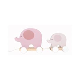 Trekfiguur Olifanten (roze) - Jabadabado